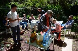 Mittagspause der Studierenden